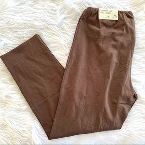 Soft Surroundings Brown Stretch Pant Leggings